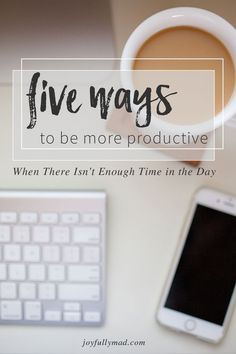 Use these five ways to be more productive with your work breaks! Get a free printable for prioritizing your to do list and being more effective with your time management.