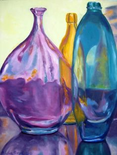 Three Friends Oil painting by Lisa Boyd - Alles über Mundpflege 2020 Bottle Drawing, Bottle Painting, Painting Still Life, Still Life Art, Acrylic Painting Inspiration, Color Pencil Art, Art Pictures, Lisa, Fine Art America