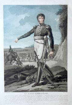 Le Baron Joseph Barbanègre (né le 22 août 1772 à Pontacq - mort à Paris le 7 novembre 1830) - Général de Brigade - gravé par Charon d'après Martinet et publié chez Jean - MAS Estampes Anciennes - Antique Prints