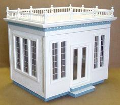 1/12 Scale Front-Opening Jr. Conservatory WOOD DOLLHOUSE Kit w/ Shingles Balcony Ebay
