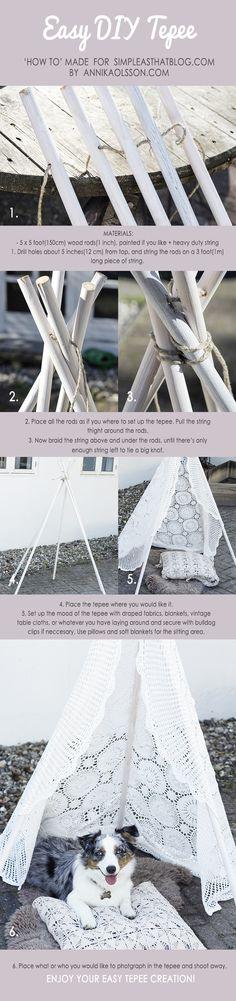 Easy DIY Tepee - simple as that