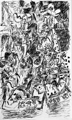 D1977/1979-104 ~ Mark Kielkucki apx 5 x 8 inches Ink on paper  More drawings here: http://kielkucki.com/p_drawings6.htm