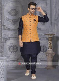Designer Nehru Jacket With Fancy Buttons Wedding Kurta For Men, Wedding Dresses Men Indian, Wedding Dress Men, Wedding Wear, Wedding Bride, Nehru Jacket For Men, Nehru Jackets, Waistcoat Men, Gents Kurta Design