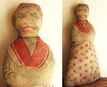 Late 19th Century Lithograph Black Mammy Cloth Doll