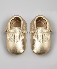 Light Gold Leather Moccasin Bootie. I would wear those!!
