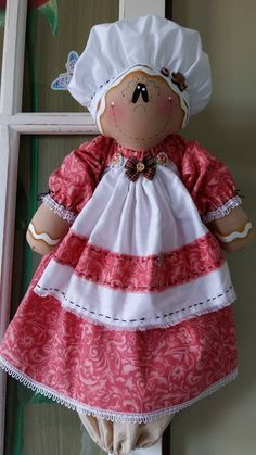 Puxa-Saco Diy Arts And Crafts, Diy Crafts, Rustic Winter Decor, Sewing Crafts, Sewing Projects, Gingerbread Crafts, Plastic Bag Holders, Xmas Wishes, Dollhouse Dolls
