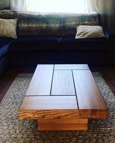 FULL CUBE This lovely kiln dried oak coffee table adds another twist to the standard oak tables. Styled on the larger cube table, without the recess. Standing on two solid oak legs making a stunning original coffee table Collection is free! if you can collect your item, or arrange a