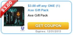 You do have a vacation savings jars, don't you? $3.00 off any ONE (1) Axe Gift Pack