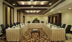 A place that is subtly luxurious with all the air of a formal business meet or a conference...  It sure would be a pleasure to do some business with you!