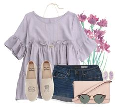 """""""Love these shoes!"""" by auburnlady on Polyvore featuring Aéropostale, Soludos, Kate Spade, Ray-Ban and Kendra Scott"""