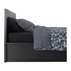 Jack's Room $449 the only Ikea platform bed with storage MALM Bed frame with storage - black-brown, Full/Double - IKEA