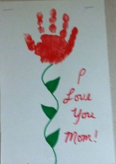 Cute Card For Mom On Valentine' Day