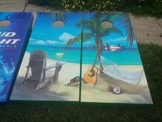 Beach cornhole boards