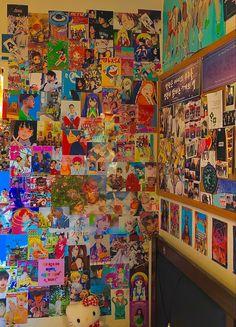 Indie Bedroom, Indie Room Decor, Cute Bedroom Decor, Aesthetic Room Decor, Hipster Bedrooms, Bedroom Ideas, Neon Room, Cute Room Ideas, Kawaii Room