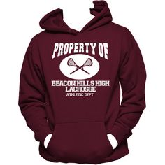 Property Of Beacon Hills High Lacrosse Unisex Hoodie,Crewneck, Teen... (€27) ❤ liked on Polyvore featuring tops, hoodies, purple hoodies, purple hoodie, crew-neck shirts, purple shirt and sweatshirt hoodies