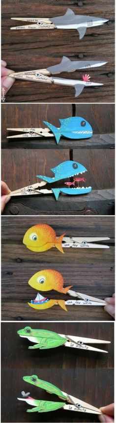 Save time for creative and interesting ideas. Make creative stuff out of wooden pegs. You can make awesome decorations out of wooden pegs or some things Kids Crafts, Summer Crafts For Kids, Crafts For Kids To Make, Summer Diy, Craft Activities For Kids, Toddler Crafts, Summer Art Projects, Easy Art Projects, Projects For Kids