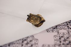 Our communication is not only digital, so when a customer receives a letter, it has a wax seal on top. Wax Seals, Class Ring, Communication, Branding, Lettering, Digital, Rings, Top, Jewelry