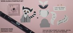 Lemur Punch Art. Using Foxy Friends Stamp Set and Foxy Builder Punch from Stampin' Up!