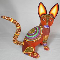 Oaxacan Wood Carvings - Alebrijes, Oaxacan Animals. Artist: Magali Fuentes.