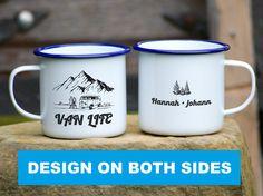 Personalised Vanlife Mug Campervan Enamel Camp Mug Custom Camping Mug For Couples Vanlife Gift Mug RV Accessories Camping Gift - Both Sides Design SIZES: - 350ml - Height: 8cm - 450ml - Height: 9cm MUG YOURSELF™ retains ALL COPYRIGHTS © to presented designs, graphics, and specific description phrases. #Emailletasse #Tasse #Emaille #Becher #Personalisiert #Bulli #Bullibus #VW #Graviert #Beidseitig #Bedruckt #Camping #Bus #Travel #Reisen #Vanlife #Nachhaltig