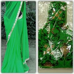 SAREE PARTY WEAR INDIAN ETHNIC  DESIGNER PEARL SARI WITH FULKARI UNSTITCHED  #designercollection #asyoulikeit