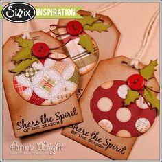 Sizzix Inspiration | Retro Ornament Tags by Anna Wight