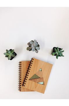 Cardtorial 'Pyramid' Wood Cover Journal