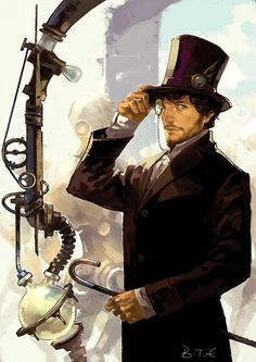 Fanart for a Hannibal steampunk AU fanfic.- If I loved this any more, I would have to marry it! Costume Steampunk, Arte Steampunk, Steampunk Artwork, Steampunk Men, Victorian Steampunk, Steampunk Fashion, Steampunk Drawing, Steampunk Clothing, Gothic Fashion