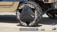 DARPA's reconfigurable tracks can turn into a wheel Cool Technology, Armored Vehicles, Automotive Design, Electric Cars, Cars And Motorcycles, Military Vehicles, Offroad, Dream Cars, Jeep