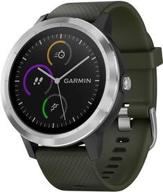 Garmin Unisex vivoactive 3 Black Silicone Strap Smart Watch 43mm