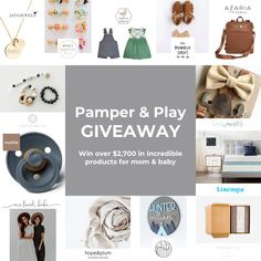 Pamper and Play Giveaway; Win over $2,700 in incredible products for mom and baby! Mom And Baby, Baby Love, Enter To Win, Cool Diy Projects, Baby Pictures, Cool Words, Activities For Kids, Giveaway, Nursery