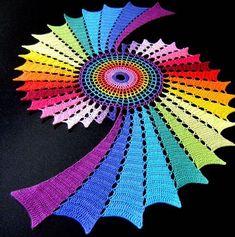 Home Decor Crochet Patterns Part 32 - Beautiful Crochet Patterns and Knitting Patterns Crochet For Beginners Blanket, Crochet Blanket Patterns, Baby Blanket Crochet, Knitting Patterns, Crochet Gifts, Crochet Yarn, Crochet Flowers, Spiral Crochet, Rainbow Crochet