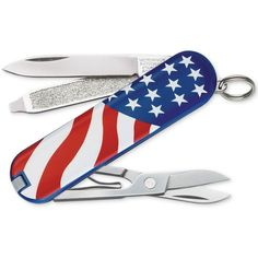 Victorinox Swiss Army Classic Sd U.s. Flag Pocket Knife 54216 (33 CAD) ❤ liked on Polyvore featuring no color