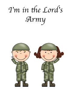 This {FREE} printable I'm in the Lord's Army pack is awesome.
