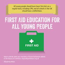 Should all young people receive first aid education? If yes, then vote at this years annual Make Your Mark ballot.  http://www.mi-event.info/event/makeyourmark