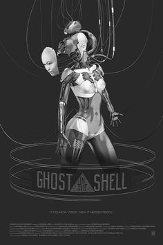 Ghost in the Shell by Chris Skinner - Home of the Alternative Movie Poster -AMP- Cyberpunk Girl, Arte Cyberpunk, Cyberpunk Aesthetic, Alternative Movie Posters, Movie Poster Art, Animation, Ghost In The Shell, Shell Art, Illustrations