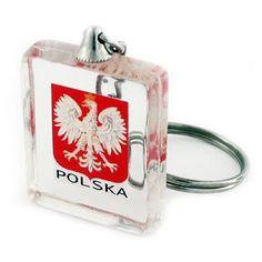 Acrylic keychain with sunken the National Emblem. Acrylic Keychains, Emblem, Flask, Poland, Cube, Gadgets, Tableware, Keychain Ideas, Eagles
