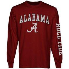 Alabama Crimson Tide Big Arch & Logo Long Sleeve T-Shirt - Crimson
