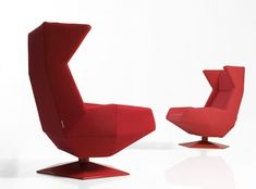 Origami inspired chairs.