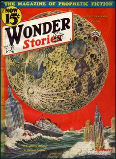 Wonder Stories ca.1930, cover by Frank R. Paul