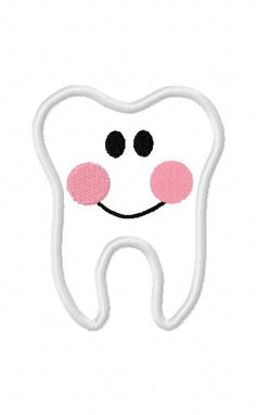 Cartoon Tooth Embroidery Machine Applique Design by ZoeysDesigns, $5.00