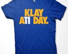 """Golden State Warriors """"Klay All Day"""" T-Shirt in Warriors Blue"""