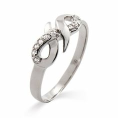 Elegant Sterling Silver CZ Infinity Ring Eve's Addiction. $42.00. TCW: .3 carats. Approximate Weight: 2.1 grams