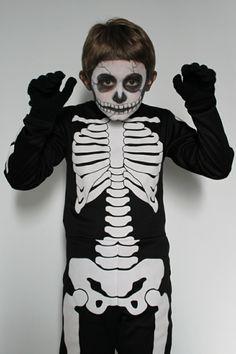 halloween kostüme kinder gerippe kostüm