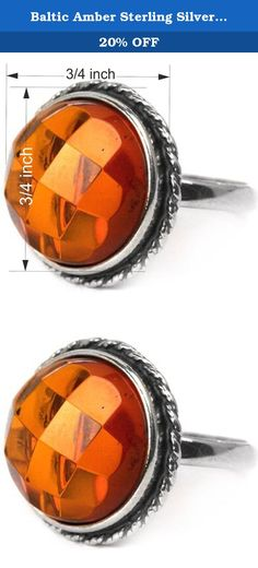Baltic Amber Sterling Silver Round Classic Ring 15x15mm Cabochon. Most of our amber found in Baltic sea area. Baltic sea considered to have biggest deposits of amber and quality of gemstone in this region is better than in any other location. Besides Baltic region there are large deposits of amber in Dominican republic, Columbia and Africa.