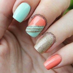 Nice and cute Glitter Orange Gold