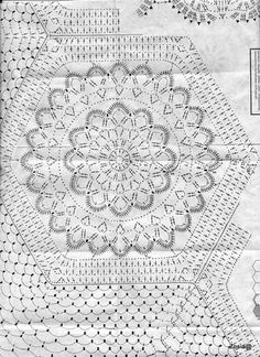 "Photo from album ""Burda special on Yandex. Crochet Diagram, Crochet Motif, Crochet Flowers, Crochet Stitches, Russian Crochet, Crochet Home Decor, Square Patterns, Flower Mandala, Doilies"
