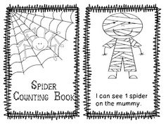 Freebielicious: Spider Counting Book (draw the correct # of spiders on each page) Kindergarten Reading, Kindergarten Activities, Classroom Activities, Teaching Math, Preschool Ideas, Teaching Ideas, Preschool Education, Preschool Letters, Preschool Printables