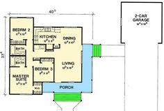 Compact Country-Style Home Plan - 31052D | Architectural Designs - House Plans