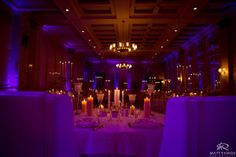 Wedding Day | Franklin Plaza Reception | Purple Uplighting © Matt Ramos Photography